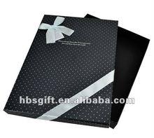 Elegant rectangle black classics gift packaging box