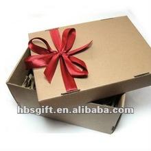 corrugated shoe box packing