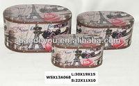 antique pattern wood box/ storage trunk/ home decor