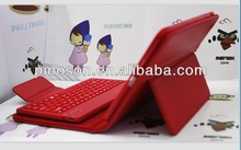 New design bluetooth keyboard with leather case for ipad MINI