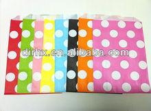 Kraft Small White Polka Dot Flat Paper Bag Gift Wrap Whisker Graphics