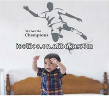 Fashion removable vinyl kids football wall stickers