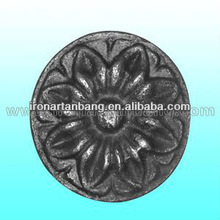 wrought iron flowers cast steel fittings cast iron leaves