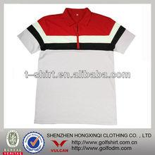 Contrast Colors Cotton Spandex Men T Shirt with zipper