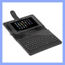 7 Inch Tablet Pc Keyboard/Case Stand Leather Keyboard Case for Andorid Tablet