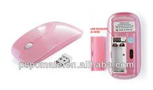 2.4G Wireless Optical Mouse Mice For Macbook Windows XP Vista 7 Laptop PC Black