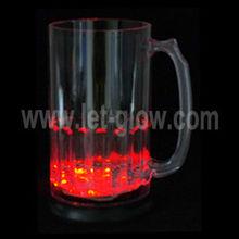LED Glow Flashing Plastic Beer Mug lighting glass