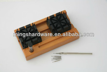 Watch Band Link Remover Set on Wooden Stand