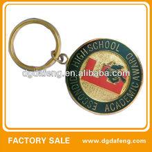 school award round shaped key rings fobs