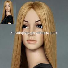 Female white synthetic fiber wig F139