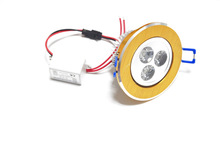 Huerler new 3w recessed adjustable downlight 220v 230V 110v 3led 3*1w 100-240v
