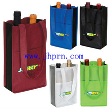 2 bottle non woven carrying wine bags