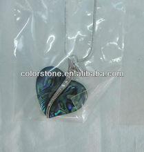 heart shape shell opal jewelry,2013 female abalone shell necklace heart,fashion jewelry natural New Zealand abalone