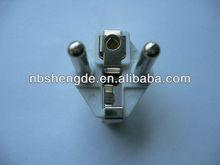 hollow 10/16a European brass Plug