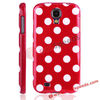 Popular Big Dots Design TPU Back Cover Shell for Samsung Galaxy S4 i9500(Red)