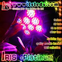 Iris platino llevado crece la luz, Led crece la luz home depot