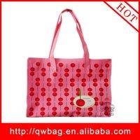 laminated pp woven cheap pink laptop bag