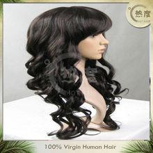 100% virgin human hair peruvian full lace wig