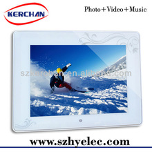 sexy video digital picture frame 8inch tft battery frame(DPF9808)
