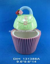 Ceramic bag shaped sugar jar