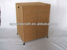 rush laundry basket with cover