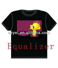 2013 White & black colour summer electroluminescent led t shirt/led tshirt design Online Shopping