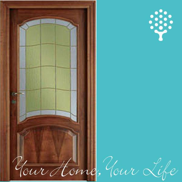 Wood door wood glass door design glass insert wood for Wooden glass door design