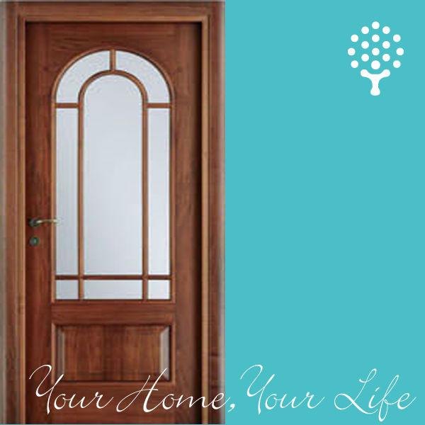 wood glass door images