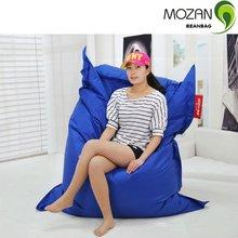 Deinterior y al aire libre azul cuadrados pelotita cama, la bolsa de frijol piso laicos cojines