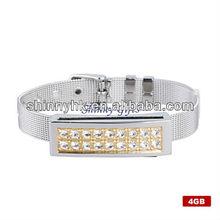 Crystal Diamond Style USB Flash Drive Bracelet