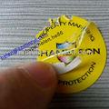 Personalizada anti- fake etiqueta de seguridad, ultra destructible de papel con laminación brillante etiquetas, manipulación evidente etiqueta de papel
