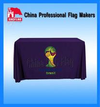 Promotional custom logo screen print table throw