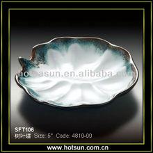 Many different design stoneware leaf shaped dish FP106