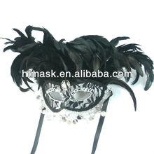 black mask leather