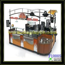 Unique design customized size coffee kiosks /mobile food carts for sale