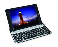 Aluminum Metal Bluetooth Wireless Keyboard Dock Stand Snap On Case For iPad Mini