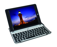 Aluminum Metal Bluetooth Wireless Keyboard Dock Stand Snap On Case For iPad Mini