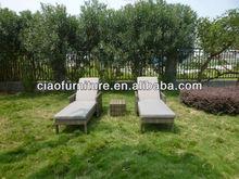 double lounger outdoor garden rattan/wicker sun bed Furniture