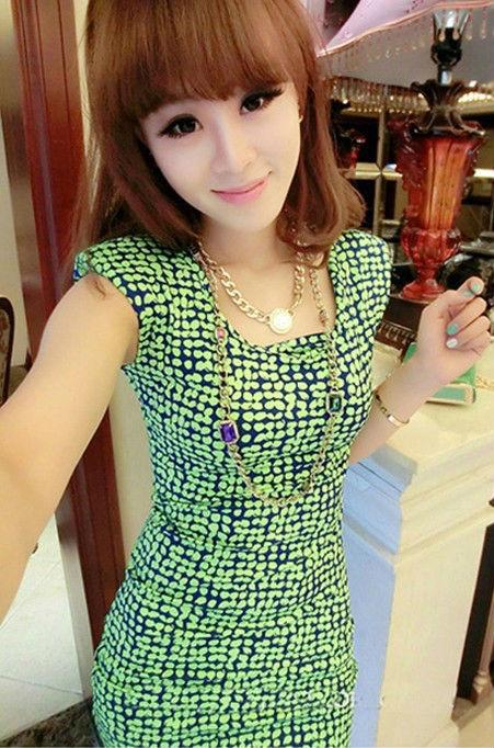 2013ผู้หญิงเกาหลีแฟชั่นใหม่ผอมชุด