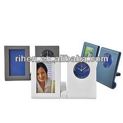 RH5671 Table Pen Holder Clock with photos&table clock pen