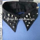 Lady shirt decorate studs fake collar