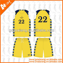 A-league quality Custom Basketball training jersey/short
