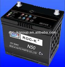 Maintenance free starting Automotive battery N50