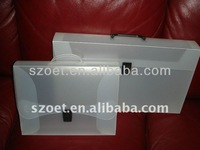 Clear or coloured Plastic file folder with handle