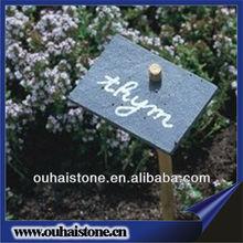 Superb quality natural black stone flower label slate plant marker