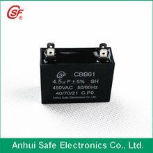 self healing cbb61 capacitor run motor fan 4.5UF