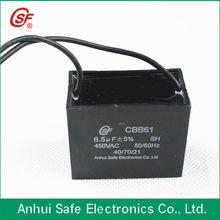 self healing cbb61 capacitor run motor fan 6.5UF