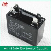 self healing cbb61 capacitor run motor fan 2.5UF