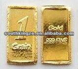 the Newest hottest 1 grain or 5 grain pure gold souvenir coin