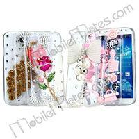 Luxury Crystal Diamond 3D Bing Peacock Back Cover Hard Case for Samsung Galaxy S IV S4 i9500/i9505/i9508